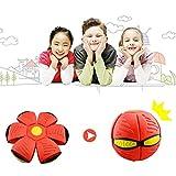 CampHiking Fliegende Scheibe, Fliegende Kugel Kinder scheiben Spielzeug verformbare Fliegende untertassen mit licht Magic Vent Ball Frisbee für elternkinder