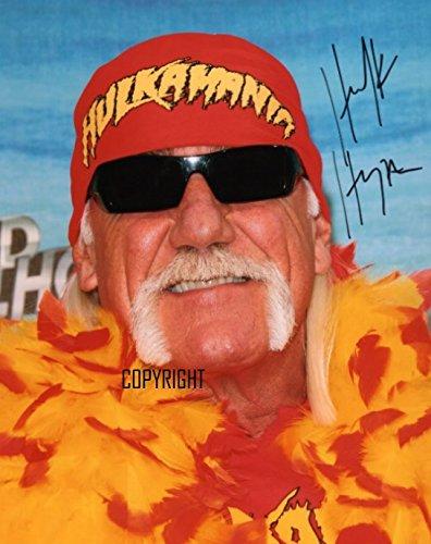 Hulk Hogan wrestling fotografia firmato edizione limitata + stampato Autograph