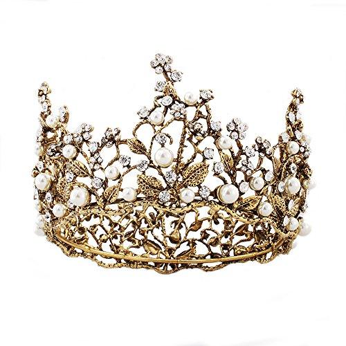 aut Krone, Barocken Strass Hochzeit Bridal Pageant Prinzessin Tiara Stirnband Krone Headpiece Haarschmuck - Stil A ()