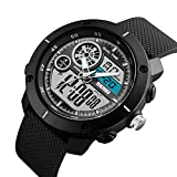 #8: V2A Skmei S-Shock Analogue-Digital Sport Watches For Men's And Boys - Skm-1361-Black