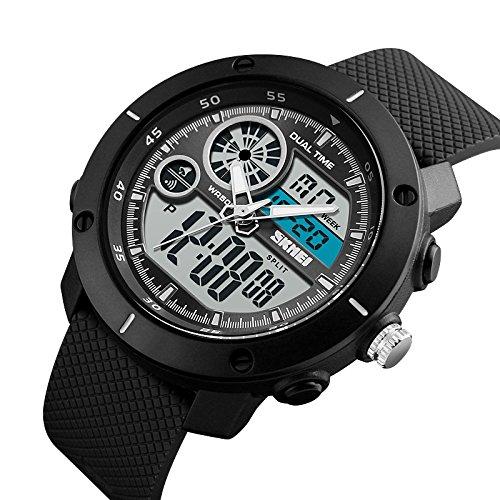 V2A Skmei S-Shock Analogue-Digital Sport Watches For Men\'s And Boys - Skm-1361-Black