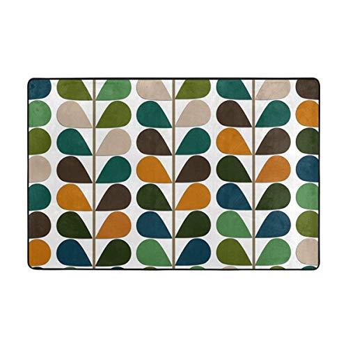 Sunlight Heimwerker-Teppiche im mittleren Jahrhundert, modernes Muster, sehr weich, rutschfest, für Schlafzimmer, Wohnzimmer, Größe 91,4 x 61 cm -