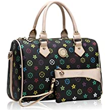 GetThatBag® Crystal monogramme Barrel Sacs bowling Handbag Sac d'épaule