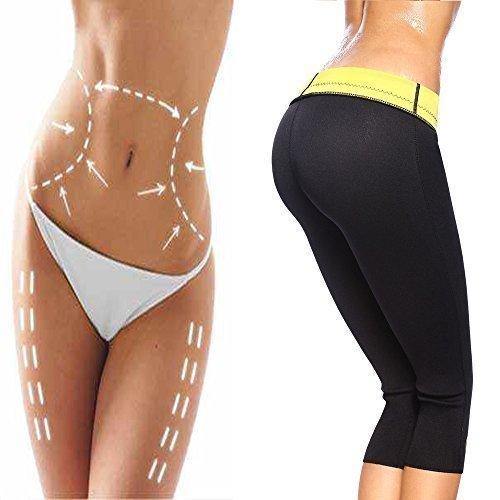 G-Smart Pantaloni modellanti e dimagranti, da donna, in Neoprene termico, con cintura in vita