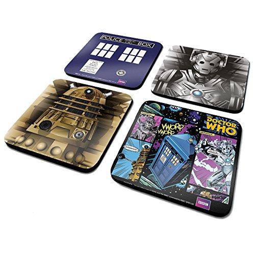 Doctor Who Untersetzer-Set, 4Stück