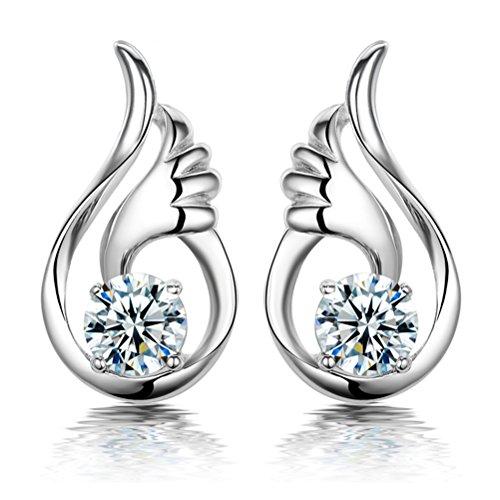 Qingsun Dame Mädchen Ohrringe Ohrhänger Engelsflügel 1 Paar