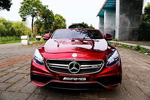 RC Kinderauto kaufen Kinderauto Bild 1: Mercedes-Benz S63 AMG Cabriolet Ride-On 12V Elektro Kinderauto Kinderfahrzeug Kinder Elektroauto (ROT PAINT)*