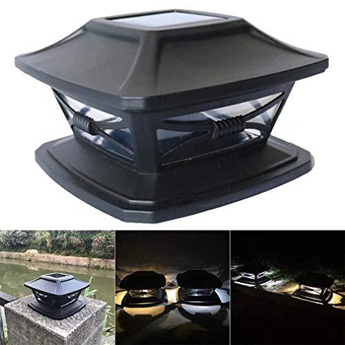 Solarpfostenkappen Leuchten Außen 4x4 solarbetriebene Cap-Lampe for Holz-Zaun Patio Deck- Garten-Dekoration-Nachtlicht (weiße Beleuchtung, warme Beleuchtung) (Color : White Lighting)