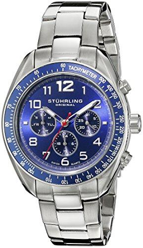 Stührling Original 814.02 - Reloj analógico para hombre, correa de acero inoxidable, color plateado