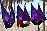 DASKING Premium Antenne Yoga Hängematte Kit (Dark Purple)