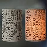 Pantalla de batería Pantalla de lámpara cilíndrica, Lámpara de pie Lámpara de pie Lámparas de pantalla Lámparas de lámpara para lámparas de techo, juego de 1,F