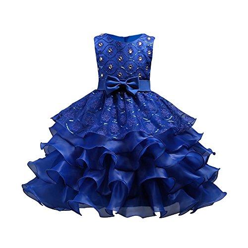 Hougood Mädchen Kleid Prinzessin Kleid Tanz Kostüme Pailletten Diamant Tanzkleid Hochzeit Geburtstagsparty Prom Formelle Anlässe Dress Up (Alte Mode-prom Kleider)