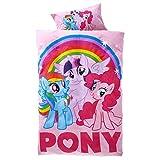 Original My Little Pony Wende-Bettwäsche Garnitur 135x200 80x80 Baumwolle
