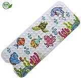 Magic Ideas rutschfeste Kinder Badewannenmatte - Schimmelresistent und Maschinenwaschbar Antirutschmatte mit Motiven für Babys - Extra Lange Duschmatte für Badewannen 100 x 40 cm