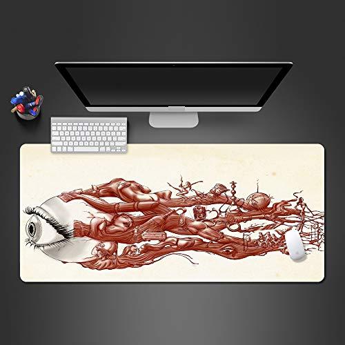 Ultra Augapfel-Effekt-Farben-Mausunterlage Rutschfeste Computer-Zusatz-Spiel-Auflage-Tastatur-Mausunterlage Beste Weihnachtsgeschenke ()