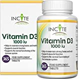 Vitamin D 1000iu   365 Premium Vitamin D3 Easy-Swallow Micro Tablets   One a Day High Strength Cholecalciferol VIT D3   Vegetarian Supplement   Made in The UK by Incite Nutrition®