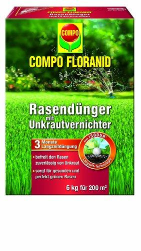 COMPO UV RASEN FLORANID®, Unkrautvernichter/ Rasendünger 6kg