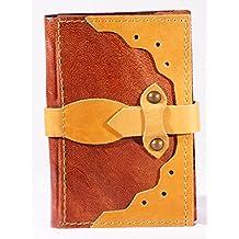 Cuaderno Diario de piel a rayas con cierre piel libro Álbum de poesía en blanco libro Diary Kladde
