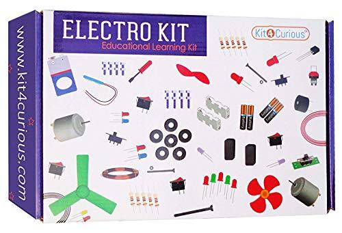 StonKraft STEM Electrical Experiment Kit 70+ Articoli con manuale di istruzioni | Esperimenti scientifici fai-da-te | Progetti di scienze scolastiche (batteria non inclusa)