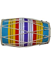 SG Musical - Dholaki Hand Percussion Drum Indian Musical Instrument - Random Color