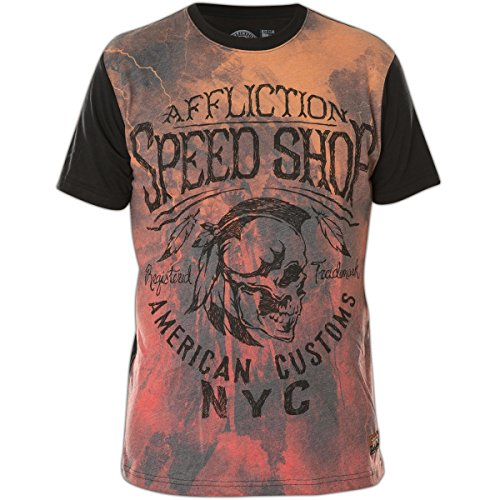Affliction T-Shirt AC Thunder Orange/Schwarz Orange
