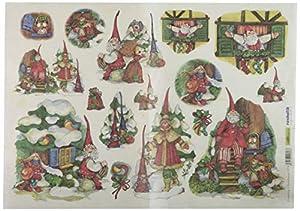 Renkalik renkalikqsipr17435x 50cm país Navidad Seda impresión Hoja de Papel (Juego de)