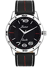 Jainx Captain Black Dial Analog Watch For Men & Boys - JM272