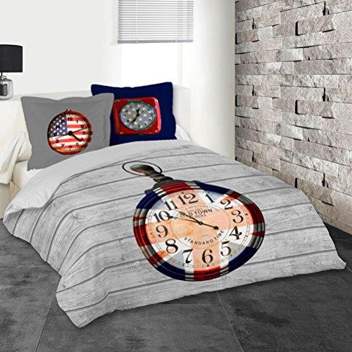 Galleria fotografica Copripiumino e due federe (240 cm) Clock