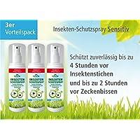 Plantacos Insekten-Schutzspray Sensitiv - 3er Vorteilspack - Schützt zuverlässig vor Insektenstichen und Zeckenbissen preisvergleich bei billige-tabletten.eu