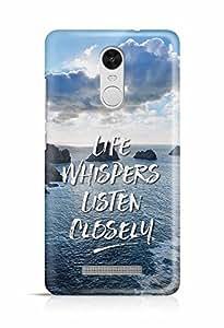 YuBingo Life Whispers. Listen Carefully Designer Mobile Case Back Cover for Xiaomi Redmi Note 3