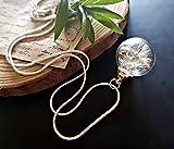 Collar clásico del diente de león Cadena de plata esterlina Caja de regalo colgante de flores regalo único para mujeres