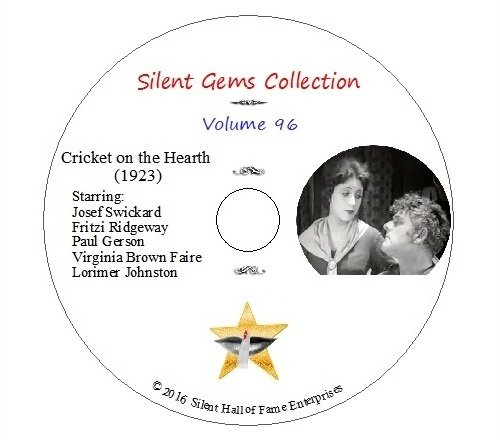 """DVD """"Cricket on the Hearth"""" (1923) Classic Silent Drama based on Charles Dickens"""