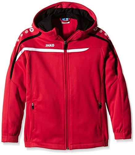 Jako Kinder Kapuzenjacke Performance Jacke, rot/Weiß/Schwarz, 152