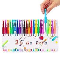 24 Pack Gel Pens, Color Gel Ink Pen for Adult Kids Colouring Book Bullet Journal Calendar Agenda School Office Supply