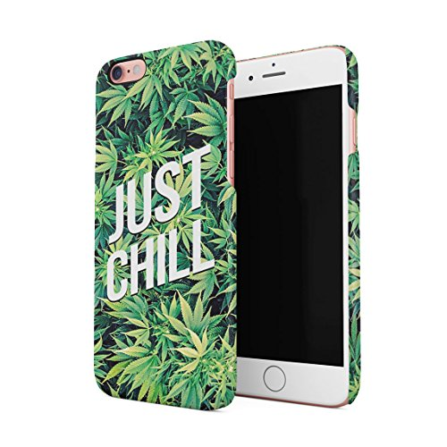 Just Chill Mary Jane Weed Take A Hit Puff Puff Blunt Dünne Rückschale aus Hartplastik für iPhone 6 Plus & iPhone 6s Plus Handy Hülle Schutzhülle Slim Fit Case Cover