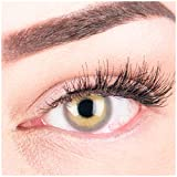 """Sehr stark deckende und natürliche graue Kontaktlinsen SILIKON COMFORT NEUHEIT farbig """"Alice Gray"""" + Behälter von GLAMLENS - 1 Paar (2 Stück) - DIA 14.50 - ohne Stärke 0.00 Dioptrien"""