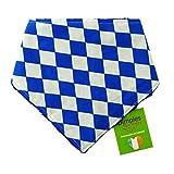 Dimples Hundehalstuch - Bayern Raute Weiß Blau Tracht Oktoberfest (Handgemacht für alle Größen und Rassen) 25cm