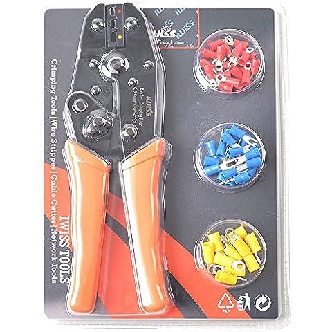 iwiss cricchetto isolato Wire Terminal Pinza crimpatrice con piedini