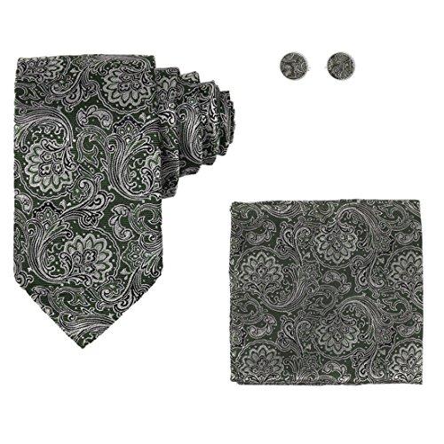 YA-BC-B.01 Hochzeitsfest-Paisley-Jacquardwebstuhl-Silk Krawatten für Verbindung Durch Y & G Grün