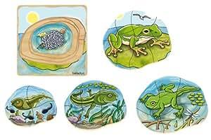 Beleduc  17053 - Lagenpuzzle Frosch