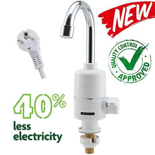 EuroQuality Elektrische Wasserhahn Hahn Spültisch Armatur+Kalt & Heiß Schalter & Sofortiger elektrischer Heizung & Warmwasserbereiter
