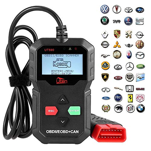 Fehlerspeicher Auslesegerät, Uten OBD2 Diagnosegerät für alle Fahrzeuge Benzin OBD2 Scanner Fehlerauslesegerät KFZ mit OBD2 USB zum Lesen und Löschen des Motorfehlercodes