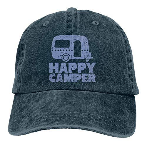 Kostüm 2t Cowboy - Nifdhkw Happy Camper Unisex Washed Adjustable Vintage Cowboy Hat Denim Baseball Caps Multicolor60