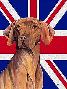 Caroline 's Treasures sc9835chf Vizsla mit englischem Union Jack Britische Flagge Leinwand, groß, multicolor