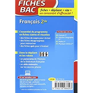 Lire En Ligne Fiches Bac Francais 2de Fiches De Revision