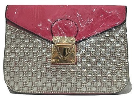 loreal-bejeweled-pink-peach-sling-bag-purse-color-may-vary
