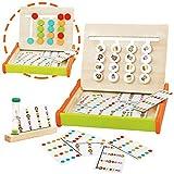 jerryvon Juguetes de Madera Montessori Babe Juegos Educativos Contando Bloques de Clasificación de Animales de Colores Puzzle Rompecabezas Madera con 36 Juegos Logica Niños para 3 4 5 Años