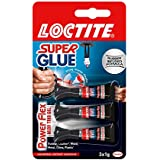 Loctite Mini Trio Powerflex Gel, Strong Super Glue Gel for High-Quality Repairs, All Purpose Adhesive for Flexible Materials, Easy to Use Clear Glue, 3 x 1g