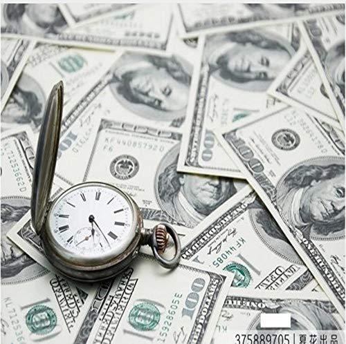 Tapete 3D Münzen Währung Dollar Hotel Schlafzimmer Wohnzimmer Sofa Wandbild,400cmx280cm -