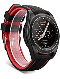 NO.1 G6 Montre Intelligent de Sport 1.2''240 x 240HD Bluetooth 4.0 TPU PSG Moniteur de Rythme Cardiaque Sommeil Rappel Sédentaire pour Android et IOS (Rouge)